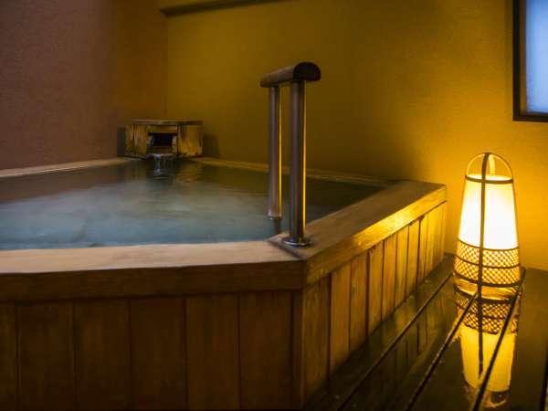 プライベートな温泉時間を楽しむ貸切露天風呂