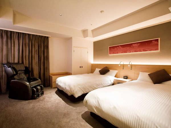 【本館特別室】(12畳+ツインベッド/78㎡)洋室は全室シモンズ社のマットレスを採用。