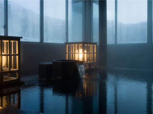 【大浴場】5つの泉質を楽しめるのは当館ならでは。泉質の違いをお楽しみください。