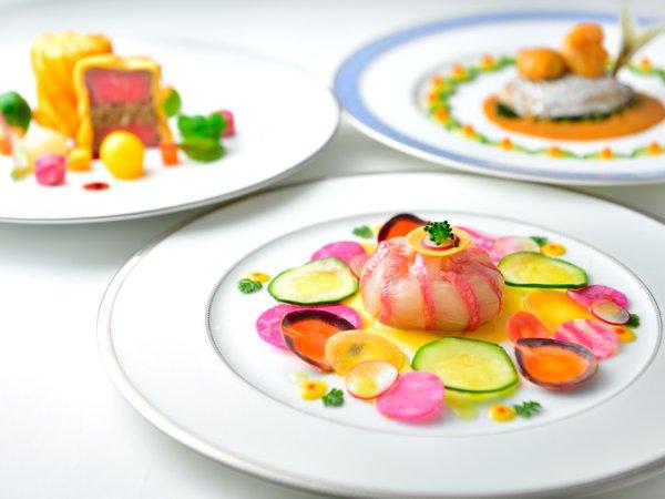 伊豆半島の野菜や、駿河湾、相模湾の新鮮な地魚を味わえるディナー