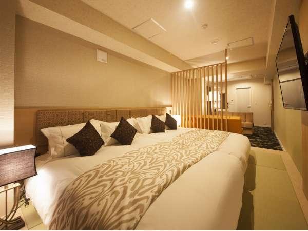 ◆〔別館〕ヒーリングツインルーム 30㎡■140cm幅ダブルベッド×2 ソファーベッド×2