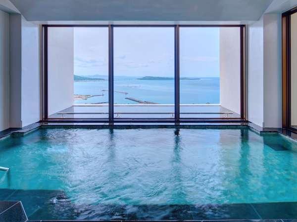 展望大浴場の内風呂からの眺め