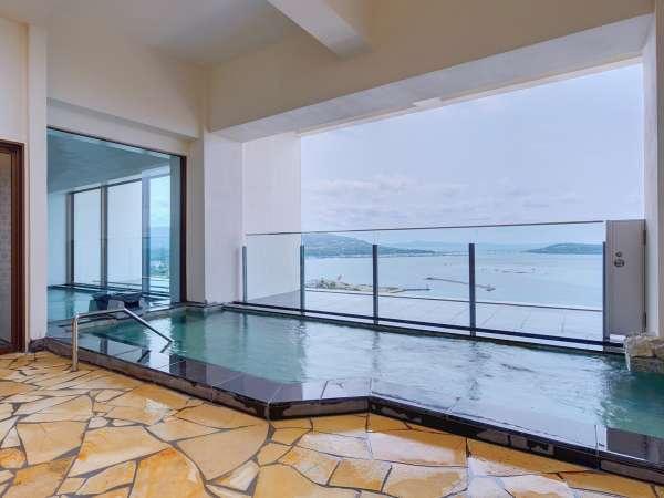 展望大浴場の外風呂からの眺め