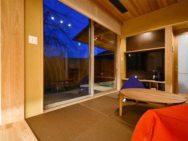 令和二年冬完成の離れ露天風呂客室/和室