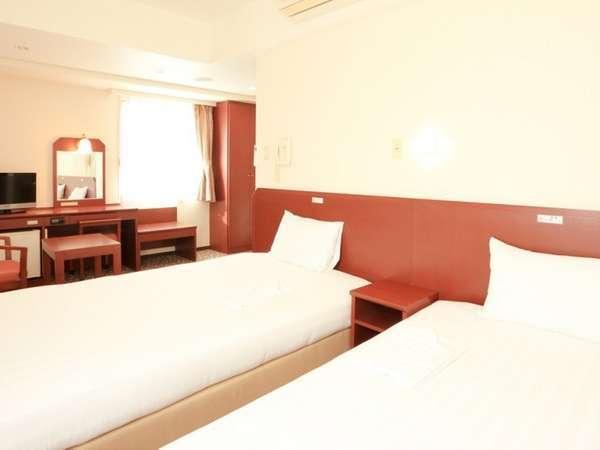 【ツインルーム】ひろびろツインルームはご旅行にも最適!