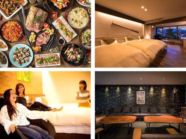 【ホテル宮島別荘】夕陽と海を望む畳温泉と、地産地消の欧風料理