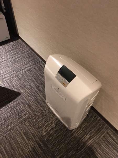 全室に加湿機能付き空気清浄機ご用意。