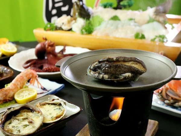 定番海鮮コースにアワビの陶板焼きが付いたデラックス海鮮コース☆ ※画像はイメージです。