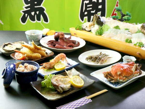 日間賀島の海幸をお手軽&お気軽に味わえる当館定番海鮮コース☆ ※画像はイメージです。