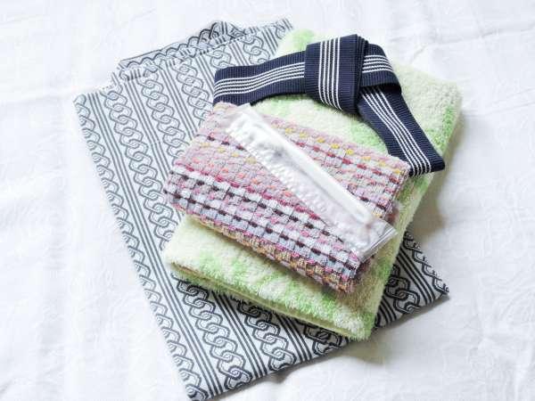 *【アメニティ一例】浴衣、歯ブラシ、タオル類
