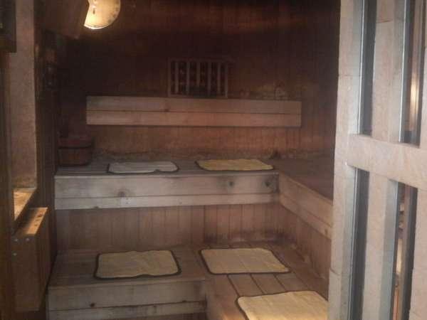 青森ヒバ(リラックス&抗菌抗臭)サウナ!電気風呂、水風呂完備の旅館です♪