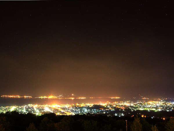 *岩内町の夜景/露天風呂や海側のお部屋から見られる、美しい北海道四大夜景!!