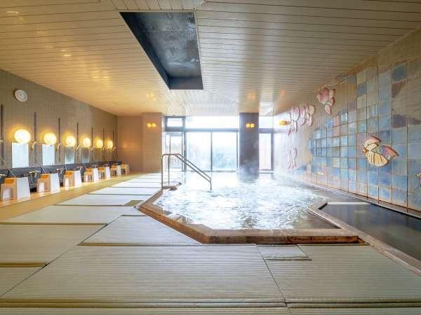 男性専用東北では珍しい畳敷きの大浴場