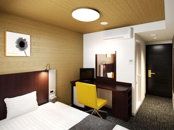 【1ベッドルーム】天井にも木目のデザインを施し、安心感と親しみやすさをより感じていただける空間に