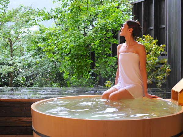【ゆらぎ貸切風呂】7つの貸切風呂は、一つずつ造りの異なる癒しの空間。
