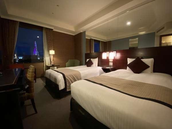 【スタンダードツイン】22平米ベッド幅120cm×2台 上品な雰囲気でまとめられたお部屋