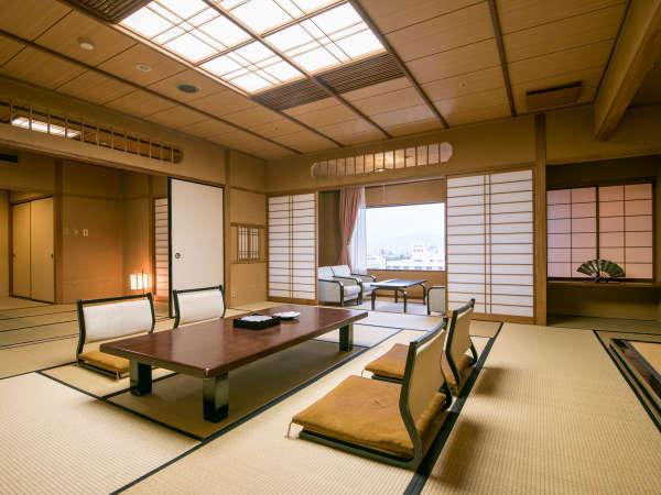 【最上階二間続き和室】当館で一番広いお部屋で、少し贅沢な休日をお過ごしください♪