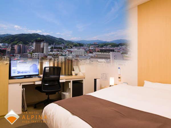ハイフロアシングルルームは高層階(7~8階)でご用意します。景色を楽しみたいお客様におすすめです。