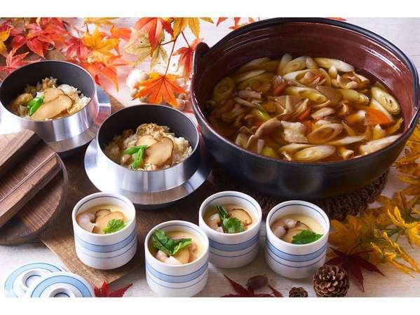 栃木産プレミアムヤシオマスと松茸の創作料理フェア(9/1-11/30)