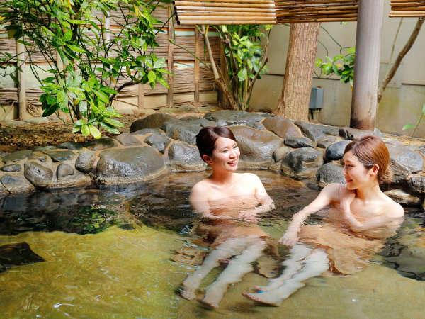 【紅梅の湯】とろとろの美肌の湯と明るく自然光さしこむ露天風呂