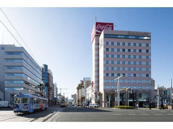 高知駅から見たホテル