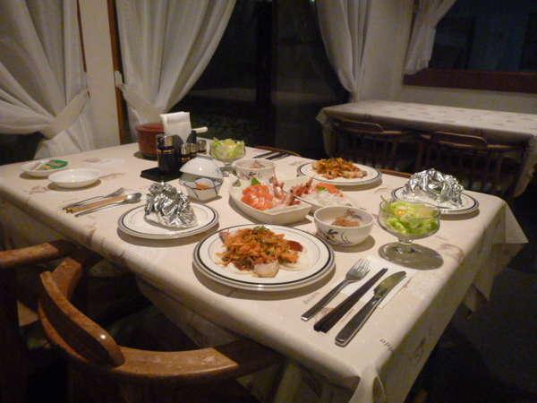 夕食風景(一例)