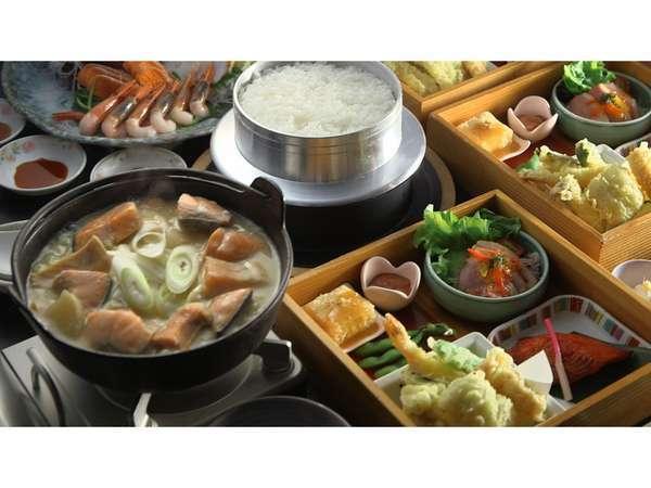 【石狩天然温泉 番屋の湯】茶褐色の天然温泉 夕食は蝦夷アワビ 一人一個付き♪