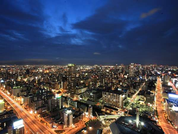 ホテルからは大阪市街を一望できます。