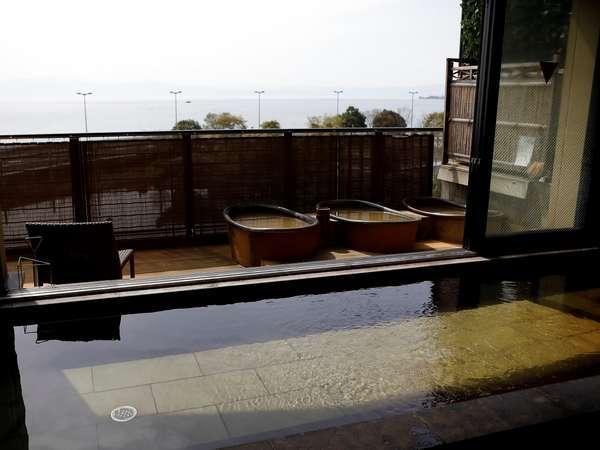 【大浴場 展望太閤温泉】眺めのよい隣の館の大浴場