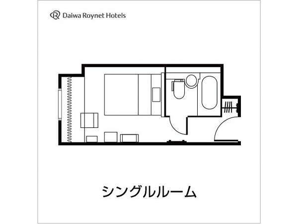 シングルルーム間取り図一例
