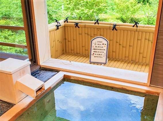 【露天風呂付特別和洋室】洋室ツインルーム+和室6畳+露天風呂(真湯使用)のお部屋