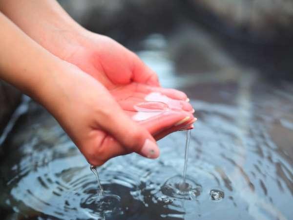 トロトロの泉質はなんと★pH9.7!!感動の肌触りでお湯からあがったあともしっとり。