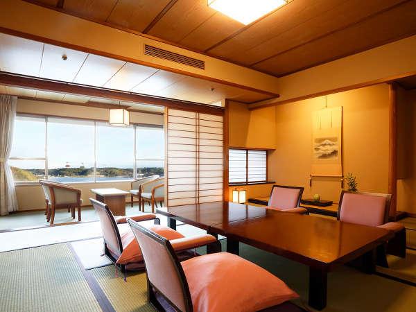 【和室12.5+6帖】浜名湖を一望する、くつろぎの和室