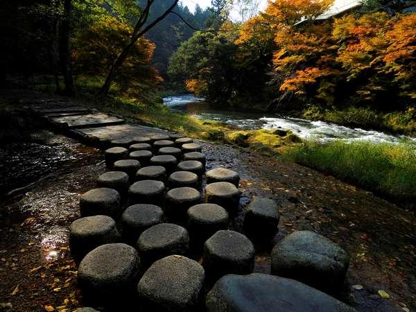 絶景の散策スポット秋の鶴仙渓