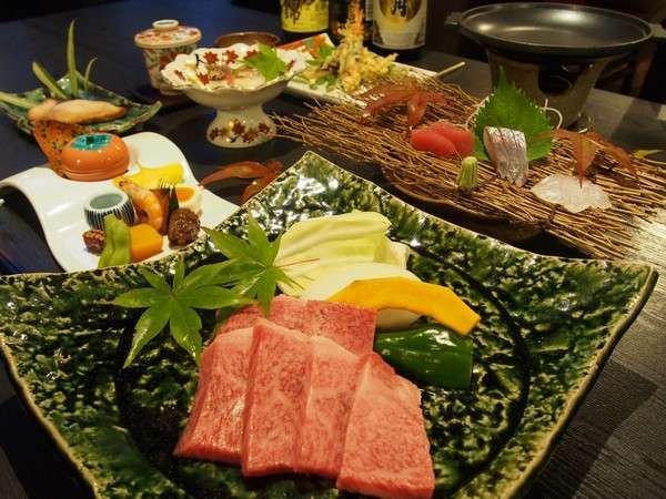 宮崎牛のステーキプラン。お好みの焼き加減でどうぞ