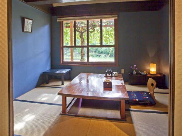 個室お食事処(藍)-:「美味しいものを、一番美味しいときに食べてほしい」当館のこだわりです。