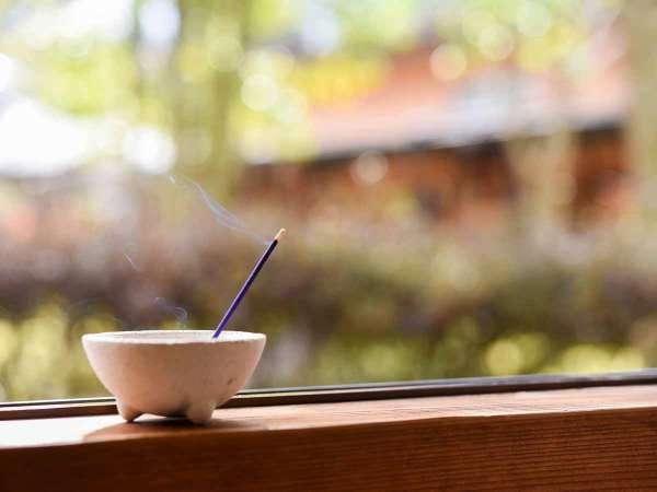 *【部屋(東館和室)】心地よくお過ごしいけるよう、ご来館前のお部屋はお香を炊いています。