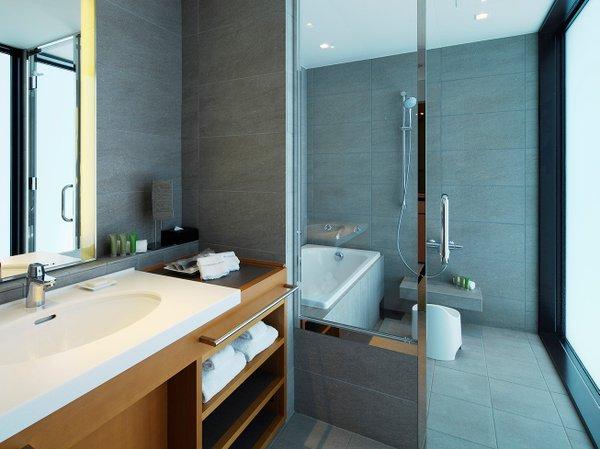 【浴室】和をイメージしたお風呂(スタンダードツイン・ダブルはこのタイプの浴室ではございません)