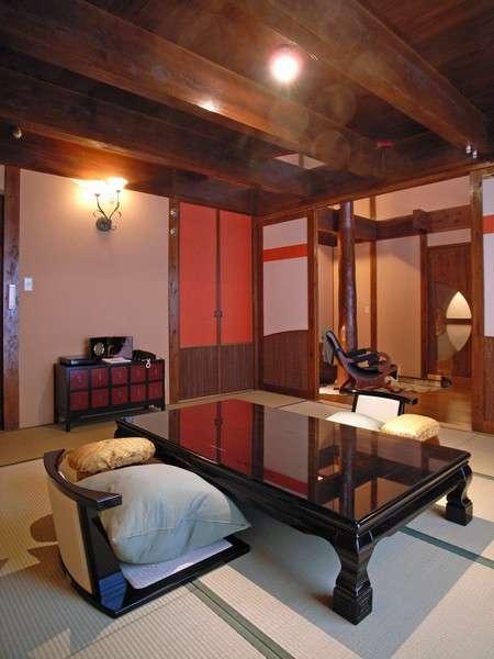 ☆2階建・スィートルーム。露天風呂付の和洋室です。