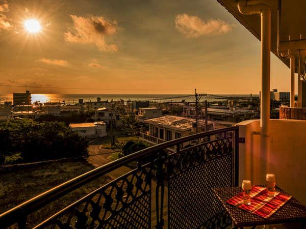 *[3・4階]客室一例/美しい夕陽を眺めながらベランダで一杯♪