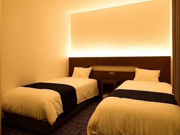 スタンダートツインの部屋(シングルベッドが2つ完備)