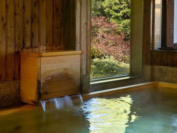*【大浴場】女湯。御在所山の景色を眺めながら、ゆっくりと温泉をお楽しみください。