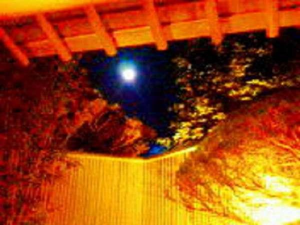 露天で、お月見