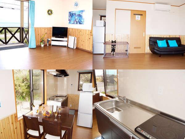 キッチン、調理器具、食器付きのお部屋【ペット館洋室1F】