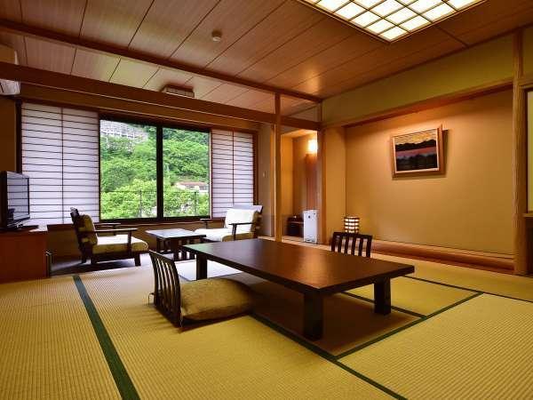 【川沿い別館数奇屋風和室】14.5畳+広縁+広々踏込 一例