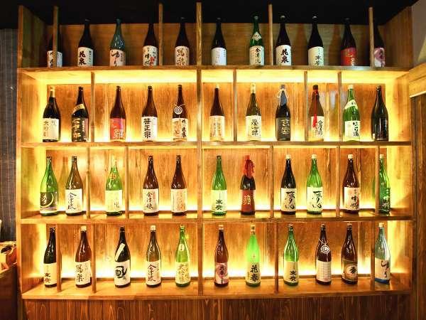 【ダイニング會-KAI-~米どころ 酒どころ~】会津の日本酒を30種類以上取り揃えています。