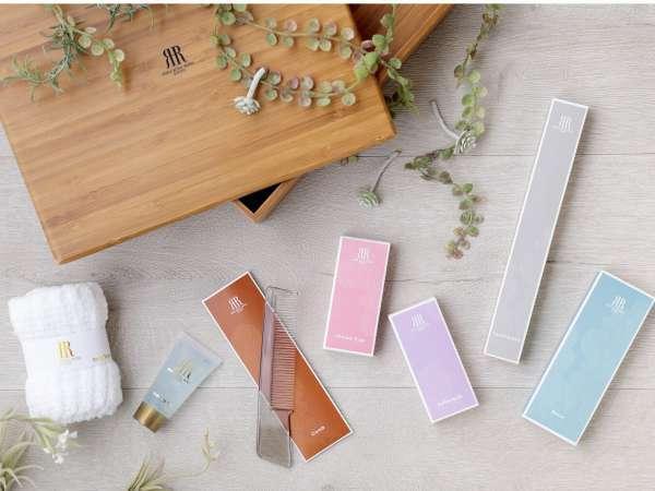 【全室共通】充実のアメニティは、京の四季や風景をイメージしたパッケージ入り