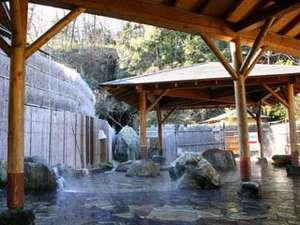 【男女別露天風呂】自然石に囲まれエネルギーチャージ!
