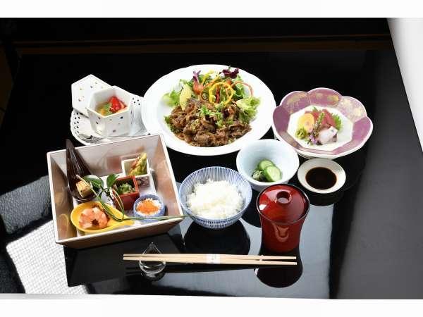 宿泊者限定メニュー【メニュー】前菜・刺身・焼き物・お食事・味噌汁・香の物・甘味