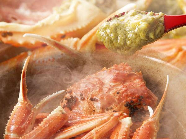 【名物カニ料理】漁師考案!少量の秘伝出汁で蒸し上げるため、濃厚凝縮!完全オリジナル料理です!
